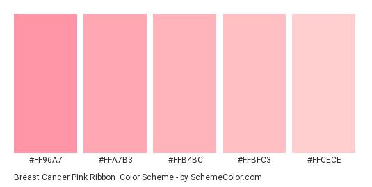 Breast Cancer Pink Ribbon Color Scheme Monochromatic Schemecolor