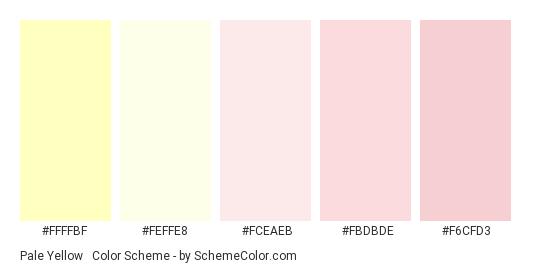 Pale Yellow & Pink - Color scheme palette thumbnail - #ffffbf #feffe8 #fceaeb #fbdbde #f6cfd3