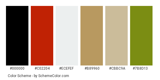 Christmas Stocking - Color scheme palette thumbnail - #ad1701 #c02204 #ecefef #b89960 #cbbc9a #7b8d13