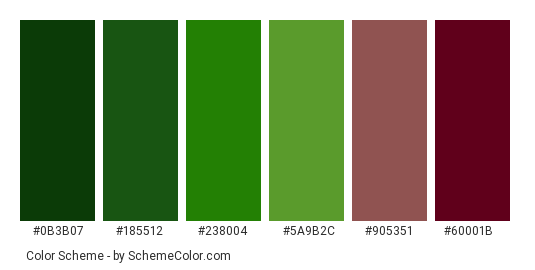 Rose Leaf - Green And Red Color Scheme » Green ...