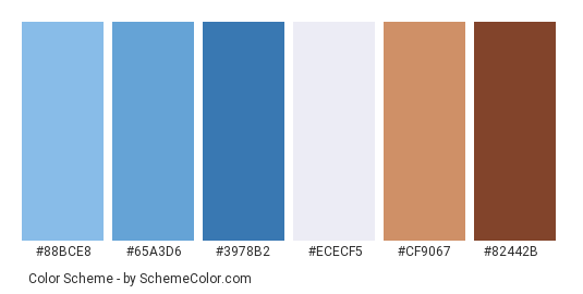 Logged In Blue Jeans Color Scheme Palette Thumbnail 88bce8 65a6 3978b2