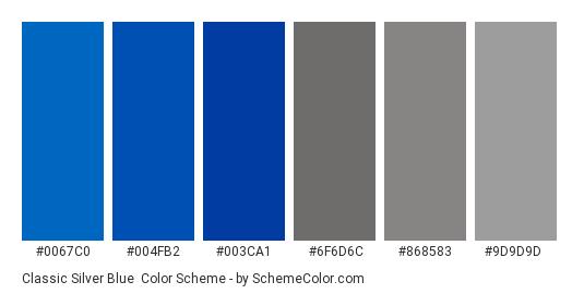 Clic Silver Blue Color Scheme Palette Thumbnail 0067c0 004fb2 003ca1