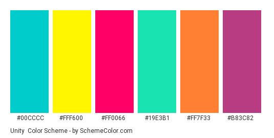 Unity Color Scheme » Blue » SchemeColor com