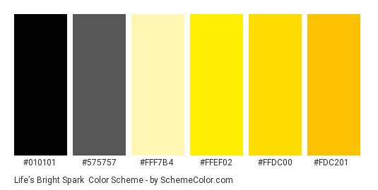 Life's Bright Spark Color Scheme » Black » SchemeColor com