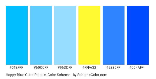 Hy Blue Color Palette Scheme Thumbnail 01bfff 60ccff 96ddff
