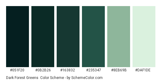 dark forest greens color scheme green schemecolor com