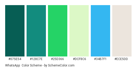 whatsapp color scheme brand and logo schemecolor com