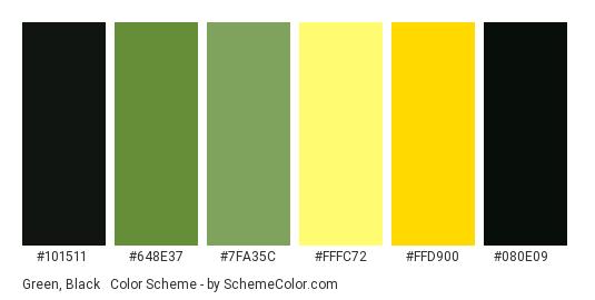 Green Black Yellow Color Scheme Palette Thumbnail 101511 648e37