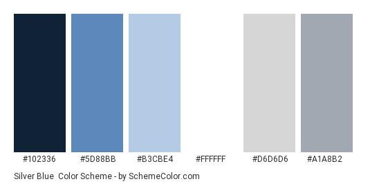 Silver Blue Color Scheme Palette Thumbnail 102336 5d88bb B3cbe4 Ffffff