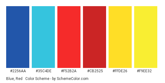 Blue Red Yellow Color Scheme Schemecolor