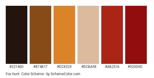 Fox Hunt Color Scheme » Brown » SchemeColor com