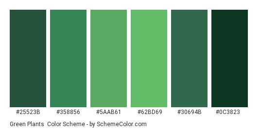 Green Plants - Color scheme palette thumbnail - #25523b #358856 #5aab61 #62bd69 #30694b #0c3823
