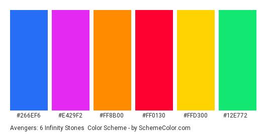 Avengers: 6 Infinity Stones Color Scheme » Blue » SchemeColor com