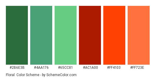 Floral Color Scheme Green Schemecolor Com