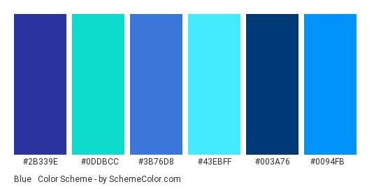 Blue Turquoise Color Scheme Schemecolor