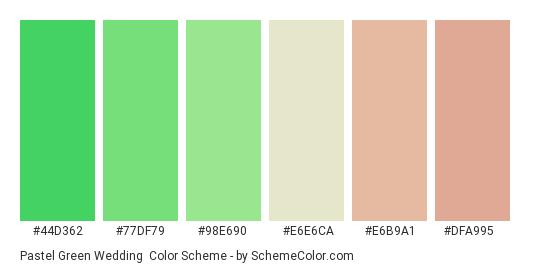Pastel Green Wedding Color Scheme Palette Thumbnail 44d362 77df79 98e690