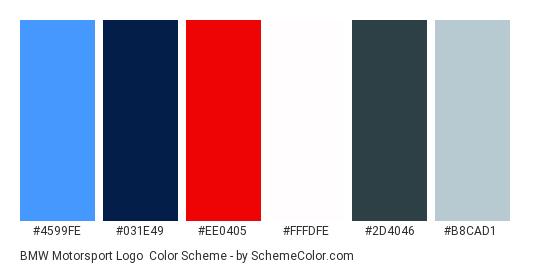 Bmw Motorsport Logo Color Scheme Blue Schemecolorcom