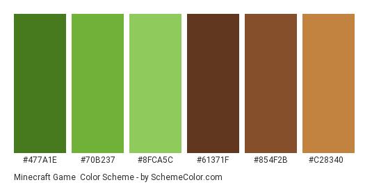 Minecraft Game Color Scheme Brown Schemecolor Com