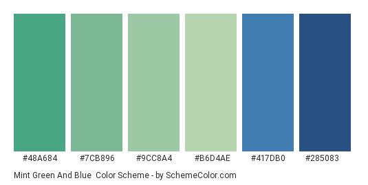Mint Green And Blue Color Scheme Palette Thumbnail 48a684 7cb896 9cc8a4