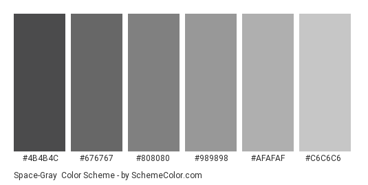 space gray color scheme gray. Black Bedroom Furniture Sets. Home Design Ideas