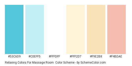 Relaxing colors for massage room color scheme blue - Is blue a calming color ...