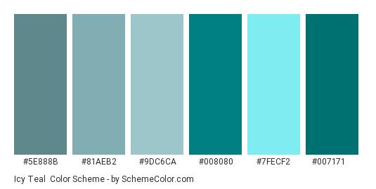Icy Teal Color Scheme » Blue » SchemeColor.com