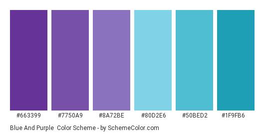 Blue And Purple Color Scheme Palette Thumbnail 663399 7750a9 8a72be