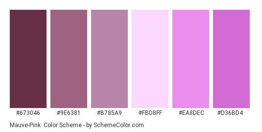 Mauve Pink Color Scheme Palette Thumbnail 673046 9e6381 B785a9