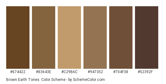 Brown Earth Tones Color Scheme » Brown » SchemeColor.com