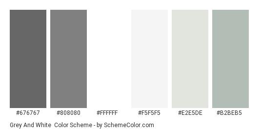 Grey And White Color Scheme Palette Thumbnail 676767 808080 Ffffff