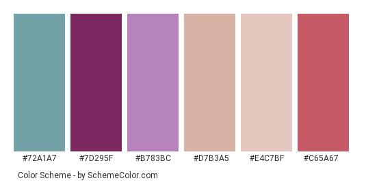 Model In Purple Color Scheme » Blue » SchemeColor.com