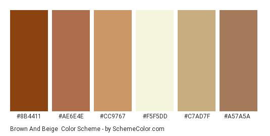 Brown And Beige Color Scheme Palette Thumbnail 8b4411 Ae6e4e Cc9767