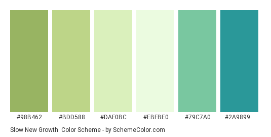 Slow New Growth Color Scheme » Green » SchemeColor.com535 x 270 png 5kB