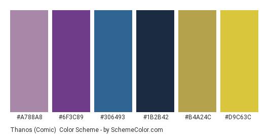 Thanos Comic Color Scheme Comic Schemecolorcom