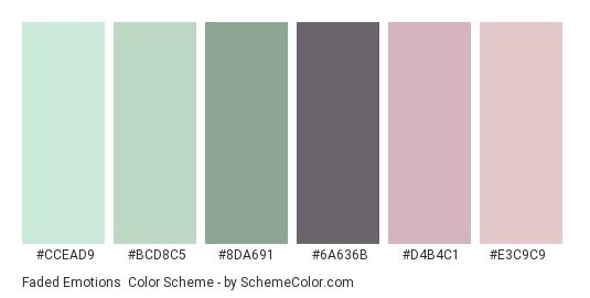 Faded Emotions Color Scheme » Dull » SchemeColor.com