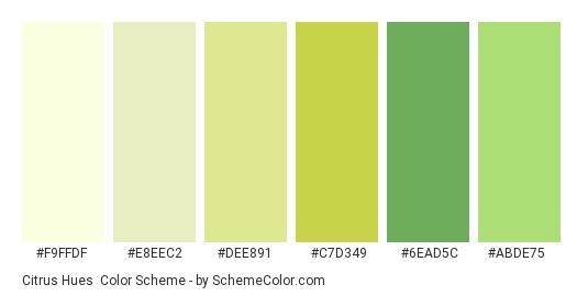 Citrus Hues Color Scheme Palette Thumbnail F9ffdf E8eec2 Dee891 C7d349