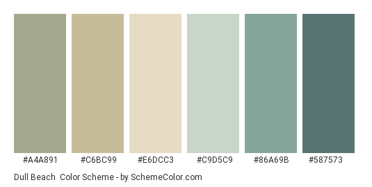 Dull Beach Color Scheme
