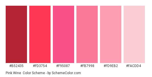 Pink Wine Color Scheme » Image » SchemeColor.com