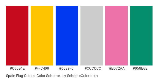 spain flag colors » country flags » schemecolor