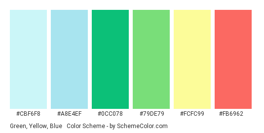 Green, Yellow, Blue & Red Pastels Color Scheme » Blue ...