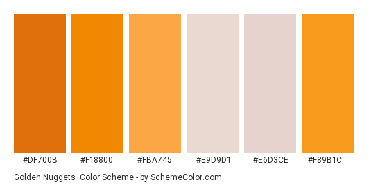 Download Golden Nuggets Color Scheme » Orange » SchemeColor.com