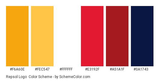 Repsol Logo Color Scheme Brand And Logo Schemecolor Com
