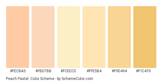 Peach Pastel Color Scheme » Pastel » SchemeColor.com
