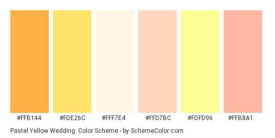 Pastel Yellow Wedding Color Scheme » Orange » SchemeColor.com