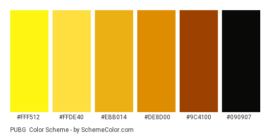 PUBG Color Scheme » Black » SchemeColor com