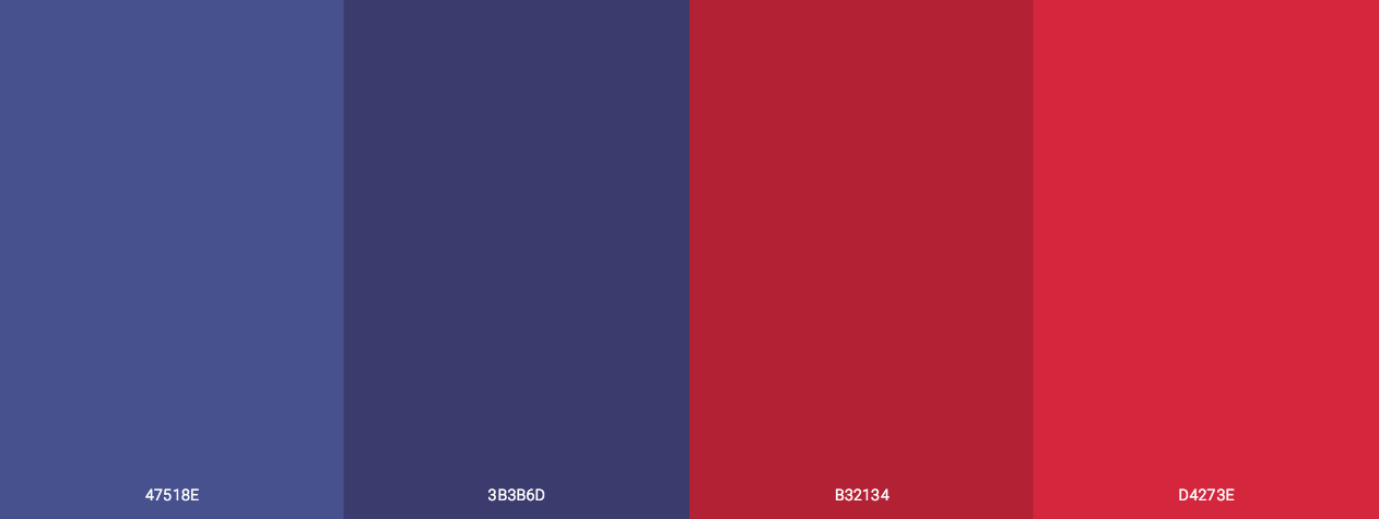 4th July Blue And Red Color Scheme
