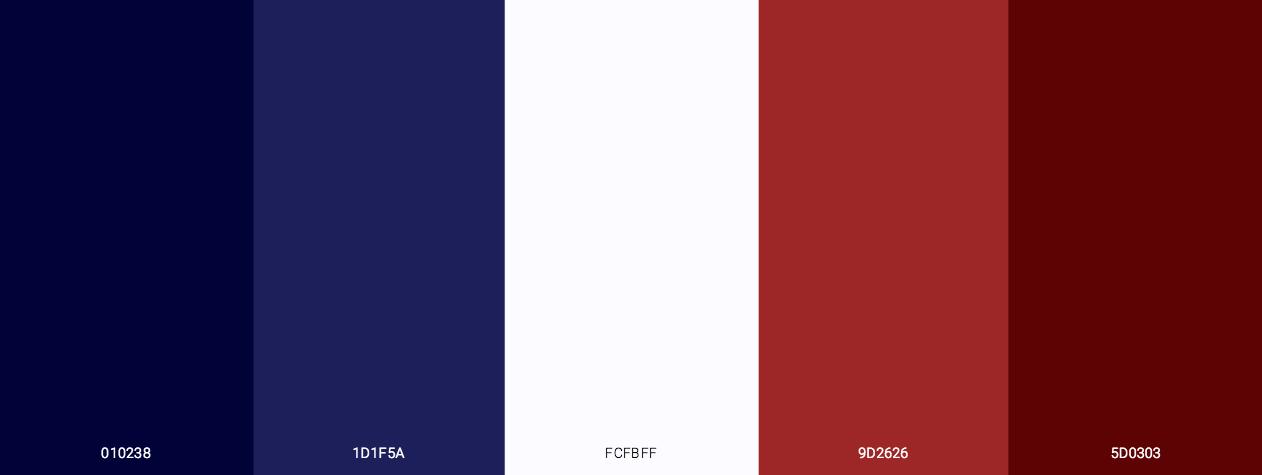 4th July Celebration Color Scheme