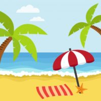 Beach background colors