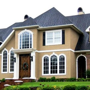 Cream & White Exterior Paint Color Combinations