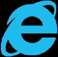 Internet Explorer 10 - 11 logo blue